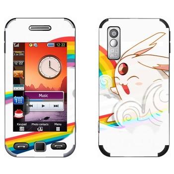 Виниловая наклейка «Кролик на радуге - Kawaii» на телефон Samsung S5230
