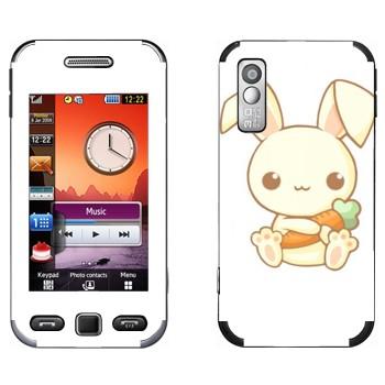 Виниловая наклейка «Кролик с морковкой - Kawaii» на телефон Samsung S5230