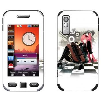 Виниловая наклейка «Мэгурине Лука (Megurine Luka)» на телефон Samsung S5230