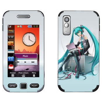 Виниловая наклейка «Мику Хацуне» на телефон Samsung S5230