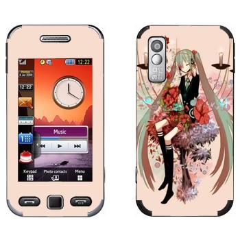 Виниловая наклейка «Мириам - Вокалоид» на телефон Samsung S5230