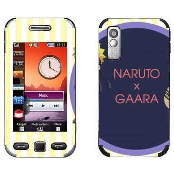 Виниловая наклейка «Наруто и Гаара» на телефон Samsung S5230