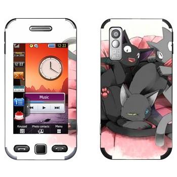 Виниловая наклейка «Нэконяшные коты» на телефон Samsung S5230