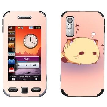 Виниловая наклейка «Спящий кот - Kawaii» на телефон Samsung S5230