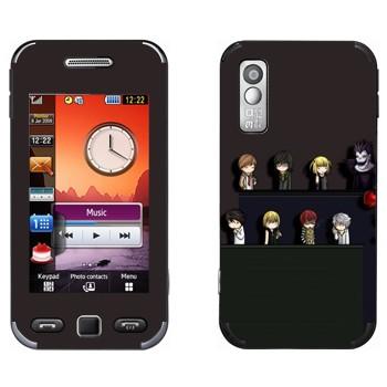 Виниловая наклейка «Тетрадь смерти» на телефон Samsung S5230