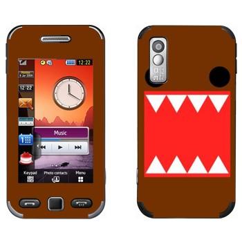 Виниловая наклейка «Зубастый - Kawaii» на телефон Samsung S5230