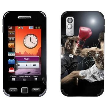 Виниловая наклейка «Бокс нокаут» на телефон Samsung S5230