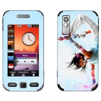 Виниловая наклейка «Брейк данс» на телефон Samsung S5230