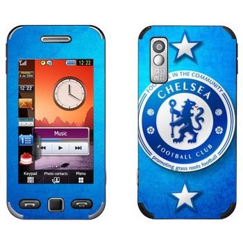 Виниловая наклейка «Челси логотип на голубом фоне» на телефон Samsung S5230