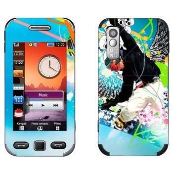 Виниловая наклейка «Экстрим сноуборд» на телефон Samsung S5230