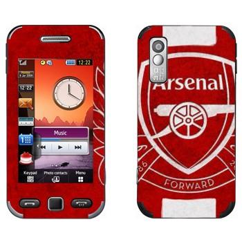 Виниловая наклейка «ФК Арсенал Лондон эмблема» на телефон Samsung S5230