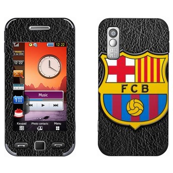 Виниловая наклейка «ФК Барселона эмблема» на телефон Samsung S5230