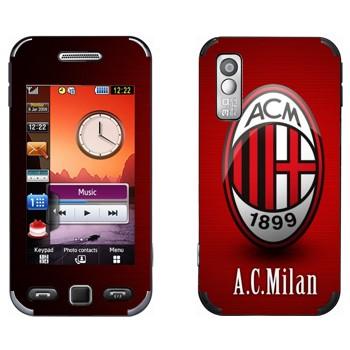 Виниловая наклейка «ФК Милан» на телефон Samsung S5230