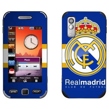 Виниловая наклейка «ФК Реал Мадрид» на телефон Samsung S5230