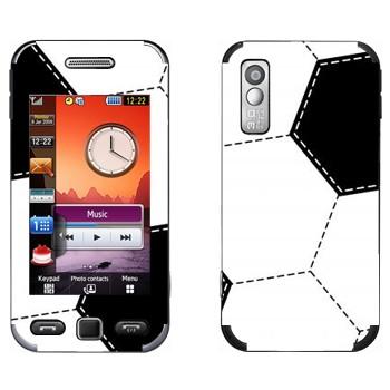 Виниловая наклейка «Футбольный мяч шаблон» на телефон Samsung S5230