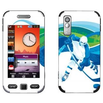 Виниловая наклейка «Хоккей» на телефон Samsung S5230