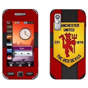 Виниловая наклейка «Красные дьяволы - Манчестер Юнайтед» на телефон Samsung S5230