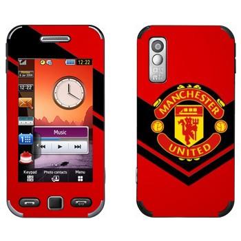 Виниловая наклейка «Манчестер Юнайтед» на телефон Samsung S5230