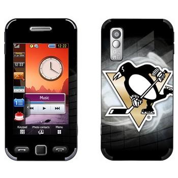 Виниловая наклейка «Питтсбург Пингвинз» на телефон Samsung S5230
