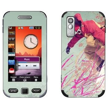 Виниловая наклейка «Сноубордист» на телефон Samsung S5230