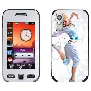 Виниловая наклейка «Современный танец» на телефон Samsung S5230