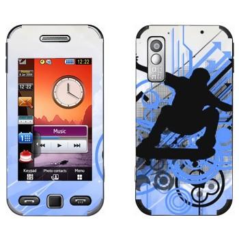 Виниловая наклейка «Тень скейтбордиста» на телефон Samsung S5230