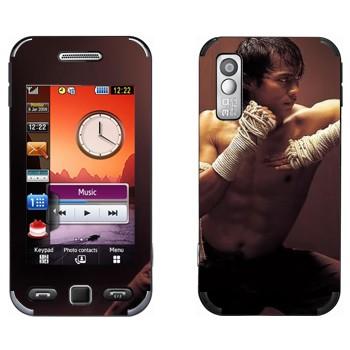 Виниловая наклейка «Удар локтем - Муай Тай» на телефон Samsung S5230