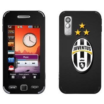 Виниловая наклейка «Ювентус эмблема на черном фоне» на телефон Samsung S5230