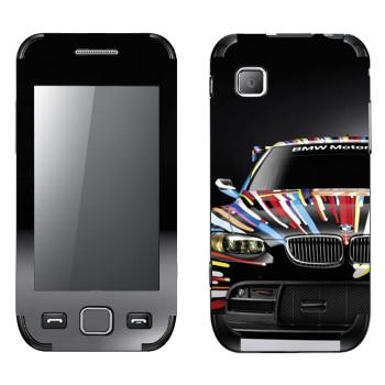 Виниловая наклейка «BMW Motosport» на телефон Samsung Wave 525