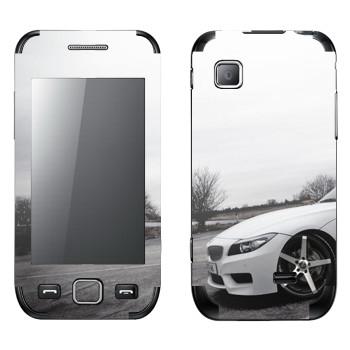 Виниловая наклейка «BMW белая» на телефон Samsung Wave 525