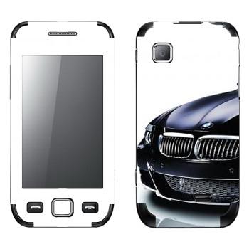 Виниловая наклейка «BMW черная» на телефон Samsung Wave 525