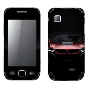 Виниловая наклейка «BMW i8 красная» на телефон Samsung Wave 525