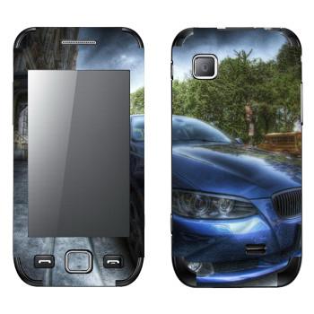 Виниловая наклейка «BMW рисунок» на телефон Samsung Wave 525