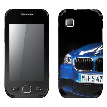 Виниловая наклейка «BMW синяя» на телефон Samsung Wave 525