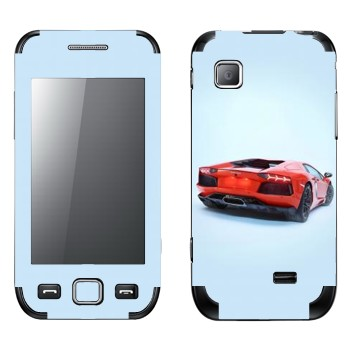 Виниловая наклейка «Lamborghini Aventador» на телефон Samsung Wave 525