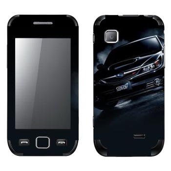 Виниловая наклейка «Subaru Impreza STI» на телефон Samsung Wave 525
