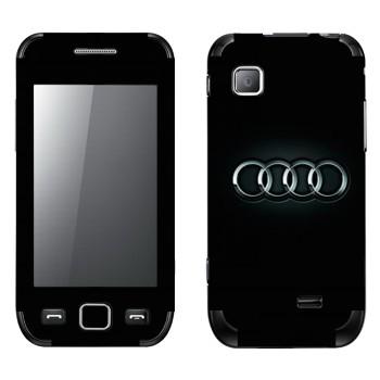 Виниловая наклейка «Ауди логотип» на телефон Samsung Wave 525