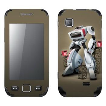 Виниловая наклейка «Белый шагающий робот» на телефон Samsung Wave 525