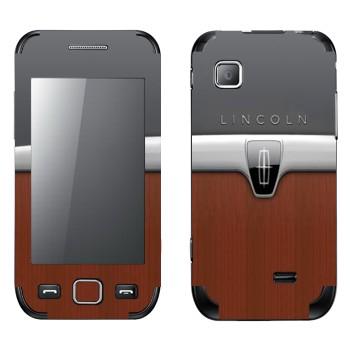 Виниловая наклейка «Эмблема Линкольн» на телефон Samsung Wave 525