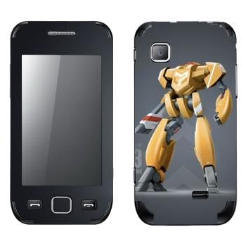 Виниловая наклейка «Желтый робот» на телефон Samsung Wave 525