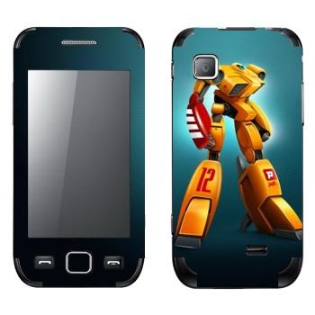 Виниловая наклейка «Желтый шагающий робот» на телефон Samsung Wave 525