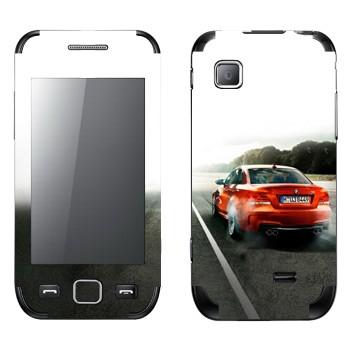 Виниловая наклейка «Красная BMW» на телефон Samsung Wave 525