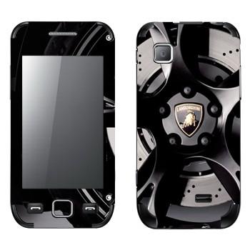 Виниловая наклейка «Логотип Lamborghini на колесе» на телефон Samsung Wave 525
