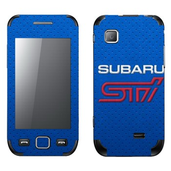 Виниловая наклейка «Логотип Subaru STI» на телефон Samsung Wave 525