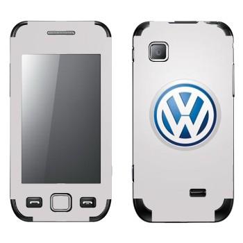 Виниловая наклейка «Логотип Фольксваген» на телефон Samsung Wave 525