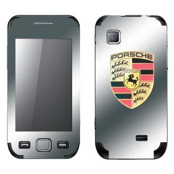 Виниловая наклейка «Логотип Порше» на телефон Samsung Wave 525