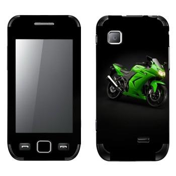 Виниловая наклейка «Мотоцикл Kawasaki Ninja 250R» на телефон Samsung Wave 525