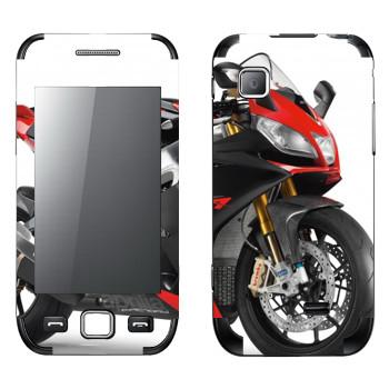 Виниловая наклейка «Мотоцикл спортивный красный» на телефон Samsung Wave 525