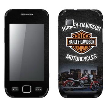 Виниловая наклейка «Мотоциклы Харлей-Дэвидсон» на телефон Samsung Wave 525