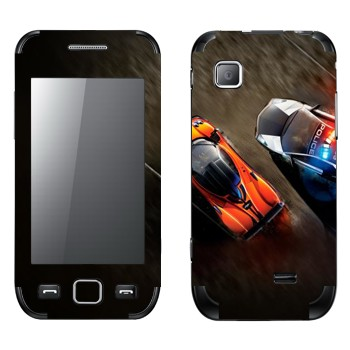 Виниловая наклейка «Погоня полиция спорткары» на телефон Samsung Wave 525